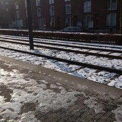 Photo taken at Tramhalte Vennepluimstraat by Iris v. on 2/12/2013