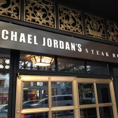 Photo taken at Michael Jordan's Steak House Chicago by Rasheed on 10/4/2012