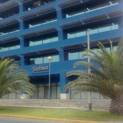 Photo taken at Telefónica del Perú (Torre Azul) by Luis C. on 1/27/2013