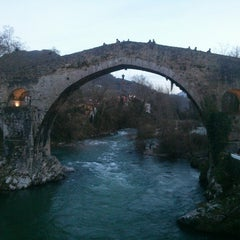 Photo taken at Cangas de Onís by Agatha on 4/2/2015