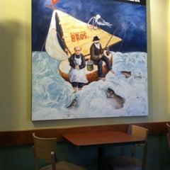 Photo taken at Einstein Bros Bagels by Sean M. on 10/28/2012