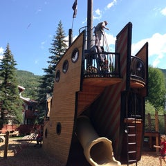 Photo taken at Pirate Ship Playground by Brandon S. on 7/16/2014