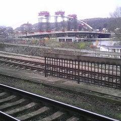 Photo taken at Železniční stanice Praha-Holešovice by Tomáš K. on 11/7/2012