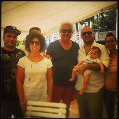 Photo taken at La Spiaggia Beach by Pigozzo D. on 9/28/2014