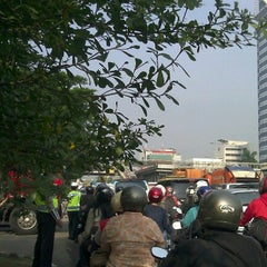 Photo taken at Jalan Jenderal Gatot Subroto by Muhammad A. on 11/1/2012