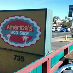 Photo taken at America's Taco Shop by Aaron on 1/18/2013