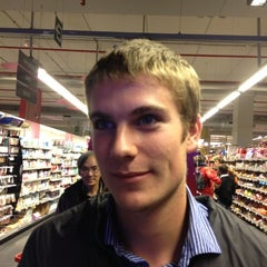 Photo taken at Delhaize by Mathieu V. on 10/8/2012