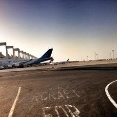 Photo taken at King Abdulaziz International Airport (JED) مطار الملك عبدالعزيز الدولي by Abdullah Elwan on 6/21/2013