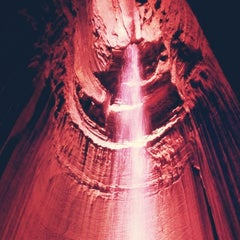 Photo taken at Ruby Falls Haunted Caverns by Illene S. on 5/26/2013