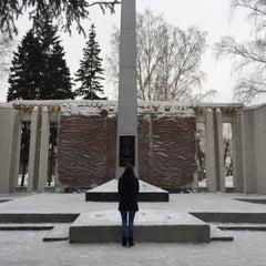 Photo taken at Памятник Участникам ВОВ by Денис М. on 2/1/2016
