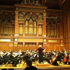 Photo taken at New England Conservatory's Jordan Hall by Guzel G. on 12/8/2012