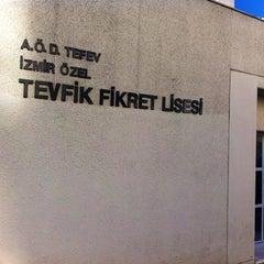 Photo taken at Tevfik Fikret Lisesi by Hacer D. on 9/23/2012