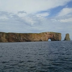Photo taken at Rocher Percé by Jeya V. on 8/29/2013
