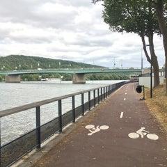 Photo taken at Bords de Seine by Jas on 7/13/2015