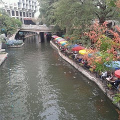 Photo taken at The San Antonio River Walk by Cesar B. on 10/20/2012