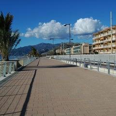 Photo taken at Passeggiata Bordighera-Vallecrosia by Adriano M. on 3/4/2013