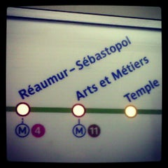 Photo taken at Métro Réaumur—Sébastopol [3,4] by Сергей Ч. on 10/31/2012