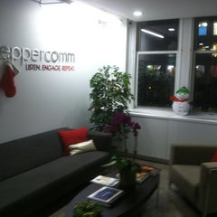 Photo taken at Peppercomm by Alex S. on 12/14/2012