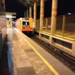 Photo taken at Metro Villa De Aragón (Línea B) by Diego G. on 3/31/2013
