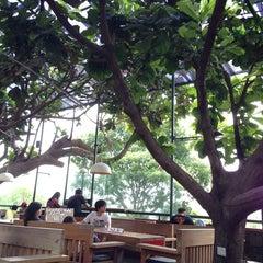Photo taken at Kopi Selasar Sunaryo Cafe and art Galery. by Upi U. on 3/9/2014