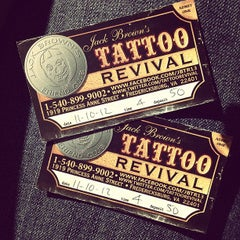 Photo taken at Jack Brown's Tattoo Revival by Malorie H. on 10/6/2012