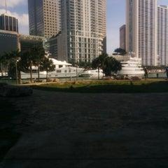 Photo taken at Miami Circle Park by Bonnie W. on 3/22/2015