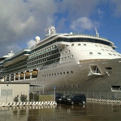 Photo taken at Porto di Messina by Astrid G. on 12/18/2012