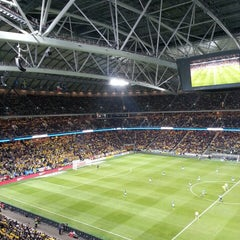 Photo taken at Friends Arena by Fredrik H. on 3/22/2013