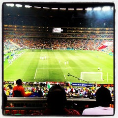 Photo taken at FNB Stadium by Kopano M. on 2/10/2013