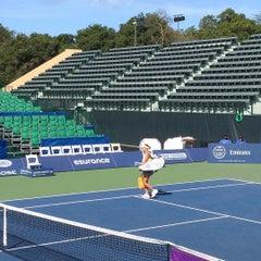 Photo taken at Taube Family Tennis Stadium by Jun on 8/2/2015
