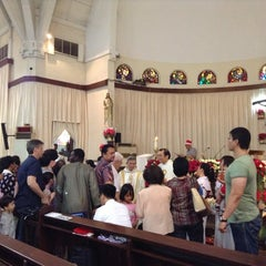 Photo taken at Gereja Santa Theresia by Mary Angelie O. on 12/25/2012