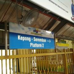 Photo taken at KTM Line - Kepong Sentral Station (KA07) by bams p. on 9/16/2012