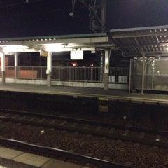 Photo taken at 男川駅 (Otogawa Sta.) by Entotuya I. on 3/5/2014