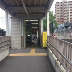 Photo taken at 男川駅 (Otogawa Sta.) by Entotuya I. on 6/21/2014