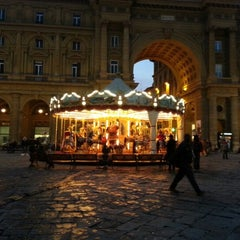 Photo taken at Piazza della Repubblica by Christina B. on 1/4/2013