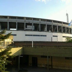 Photo taken at Estadio Juan Domingo Perón (Racing Club) by Angie T. on 10/23/2012