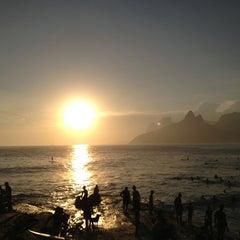 Photo taken at Pedra do Arpoador by Carla on 1/7/2013