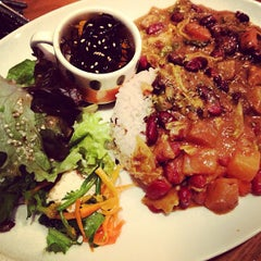"""Photo taken at from earth cafe """"OHANA"""" by Kato R. on 4/12/2013"""
