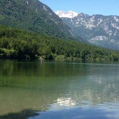 Photo taken at Bohinjsko jezero (Bohinj Lake) by Cary L. on 6/13/2013