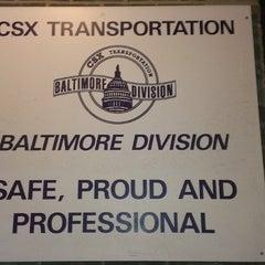 Photo taken at CSX Baltimore Division - Halethorpe by Jeffrey M. on 3/7/2013