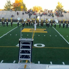 Photo taken at Memorial Field EGR Stadium by Terence M. on 10/12/2012