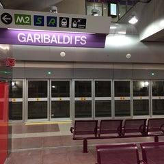 Photo taken at Metro Garibaldi FS (M2, M5) by Cabiria _. on 3/3/2014