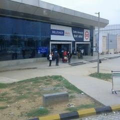 Photo taken at Delhi Aerocity Metro Station by Anbu M. on 7/8/2013