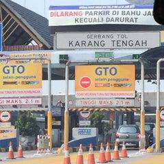 Photo taken at Gerbang Tol Karang Tengah by JK on 7/7/2015