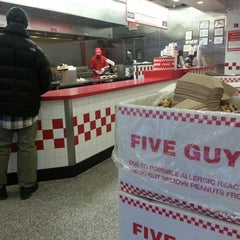 Photo taken at Five Guys by Brent G. on 2/15/2014