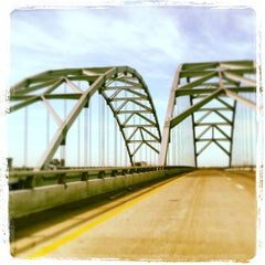Photo taken at Luther Draffen Bridge by Michael F. on 3/19/2013