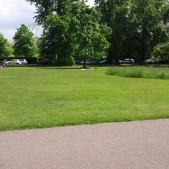 Photo taken at Pittville Park & Lake by Dave W. on 5/31/2013