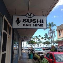 Photo taken at Sushi Bar Hime by Alan L. on 5/9/2014