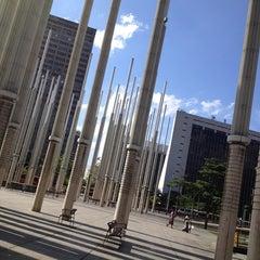 Photo taken at Plaza De La Luz by Gabriel B. on 1/7/2013