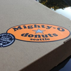 Photo taken at Mighty-O Donuts by Henry T. on 10/5/2012